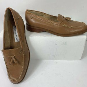 NWOB Etienne Aigner Tan Leather Loafers Wm Sz 8.5